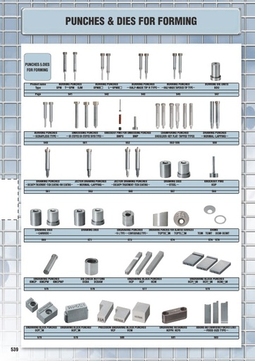 Misumi Catalog Pg 539-592 - Punches & Dies for Forming