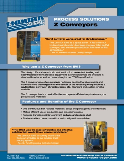 Process Solution Z Conveyor