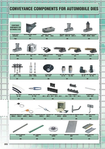 Misumi Catalog Pg 919-942 - Conveyance Components for Automobile Dies