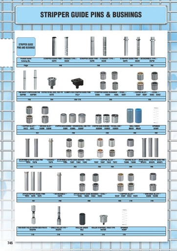 Misumi Catalog Pg 745-776 - Stripper Guide Pins & Bushings