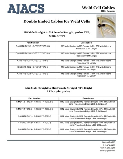 Weld Cell Cables