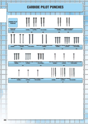 Misumi Catalog Pg 459-478 - Carbide Pilot Punches