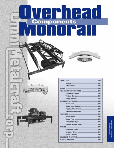 Overhead Monorail Components