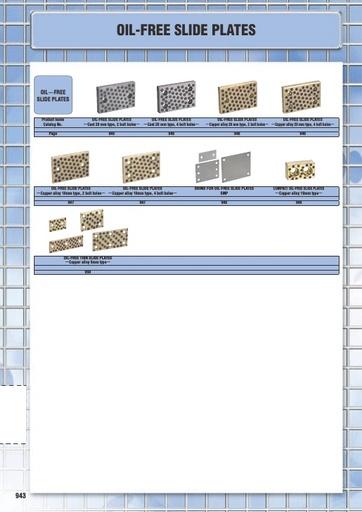 Misumi Catalog Pg 943-951 - Oil Free Slide Plates