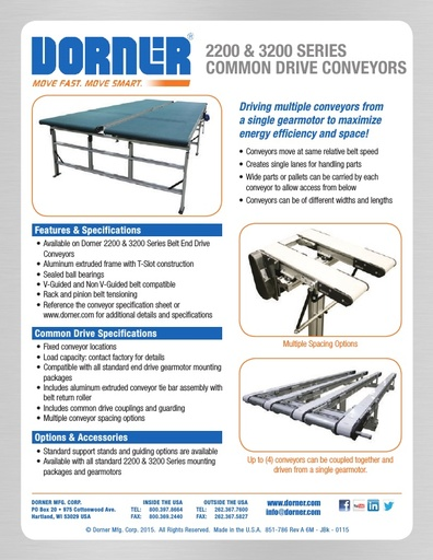 Common Drive Conveyors