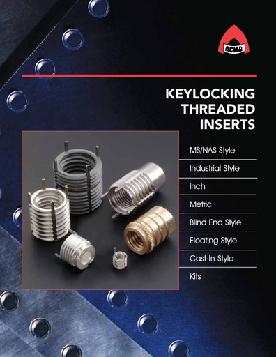 Keylocking Threaded Inserts