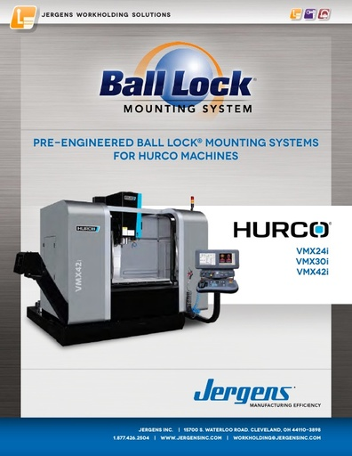 Ball Lock® Mounting Systems for Hurco Machines
