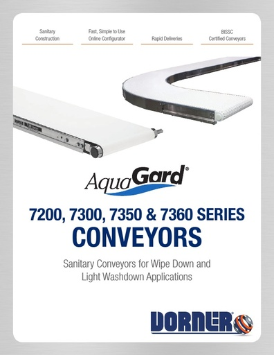 AquaGard 7200, 7300, 7350 & 7360 Conveyors