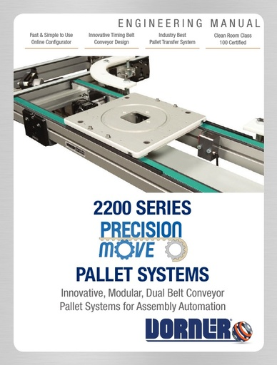 2200 Series Precision Move Pallet Systems Engineering Manual