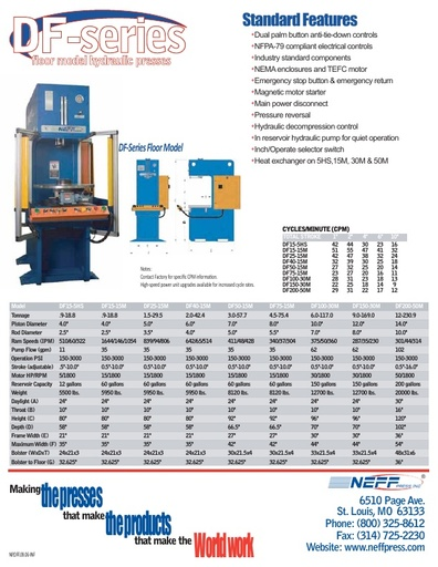 Floor Model Hydraulic Presses