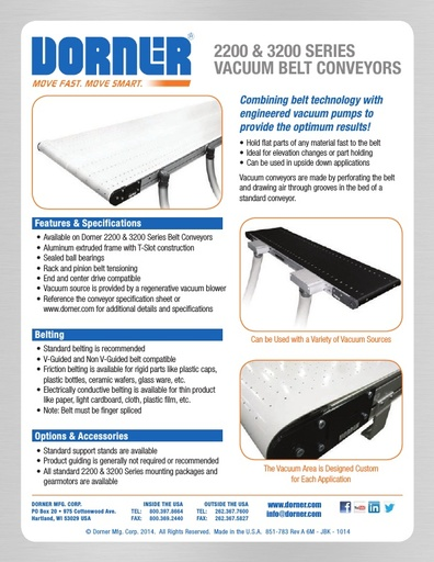 Vacuum Belt Conveyors