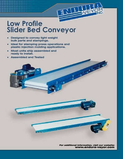 Low Profile Slider Bed Conveyor