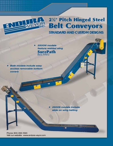 2-1/2 Pitch Hinged Steel Belt Conveyor